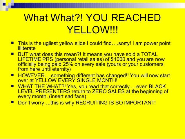 you reached yellow