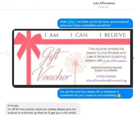 Lola Affirmation coaching session law of attraction (2)