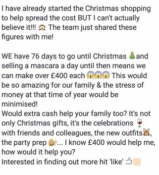 Christmas Shopping Income blah blah