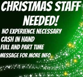 Christmas staff needed