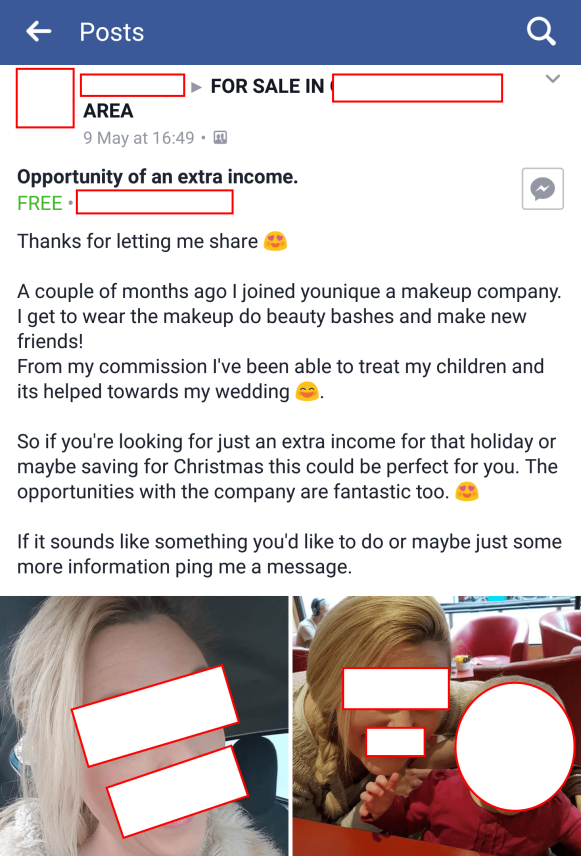 EDITED WANT SOME EXTRA CASH TO WORK FROM = SHE'S BACK AGAIN ORIGINAL HOME YOUNIQUE
