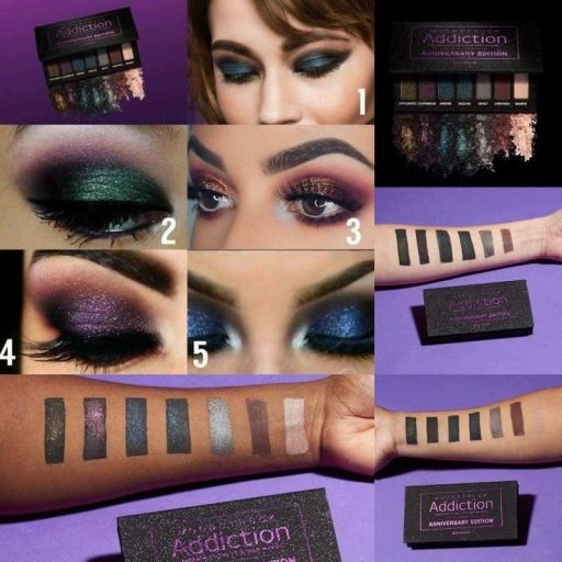 Palette Younique swatches and colour looks