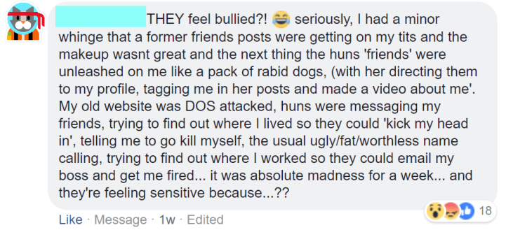 'they feel bullied' EDITED